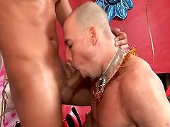 Gay Beefy Couple Fucks After the Party