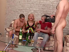 Insatiable Drunk Blonde Having a Blast..