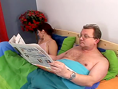 Mature couple having an amazing sex in..