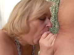 Cumming Inside a Blonde Chubby..