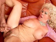 Nasty granny Effie sucks a cock before..