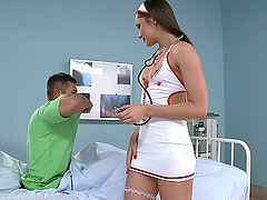 Nurse Ashley Rides A Patient's Big Cock