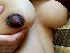 Close up view of hot Indian boobs in..
