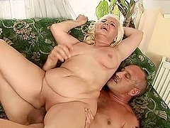 Blonde granny Marianne blows and gets..