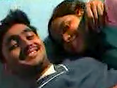 Indian chick and her BF have sex in..