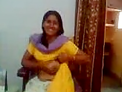 Nasty Indian aunty showing her big boobs