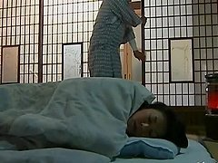 Japanese wife gets fucked from behind..