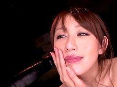 Japanese hottie Arisa Sawa gets two..
