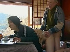 Playful Japanese milf gets balled by a..