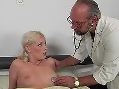 Doctor's visit ends up with a hardcore Old vs young