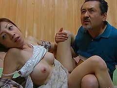 Japanese wife gets her pussy fingered..