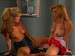 Hot vintage lesbian video of two cute..
