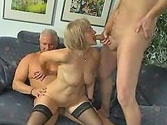 Slutty German mature lady gets..