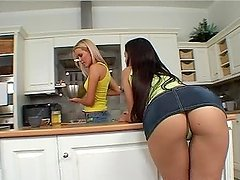 Eve Angel and Sophie Moone enjoy..