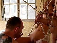 French libertine threesome and double..