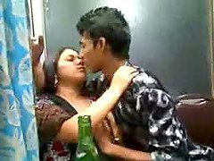 Indian couple are drunk and they love..