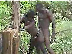 Real african amateur fuck on the tree..