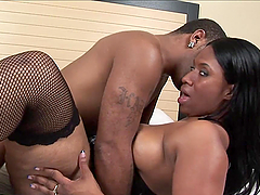 Thick Ebony Slut Takes A Thick Monster..