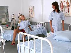 Lustful Nurses Have A Lesbian Scene..