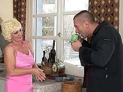 Lustful granny Orhidea enjoys some..