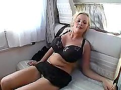 Hot blonde German babe with big boobs..