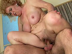 Blonde granny Effie moans crazily..