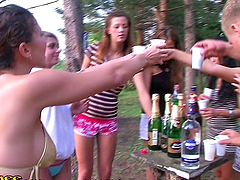 Picnic turns into Orgy with Hot Teens