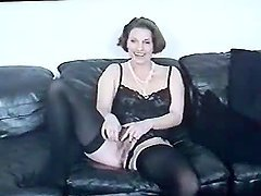 German Amateur Mature lady stuffs her..