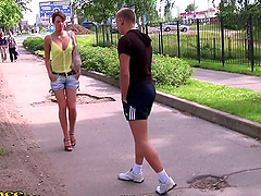 Outdoor Blowjob Threesome with..
