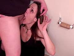 A Brutal Deep Throat From A Slutty Mom