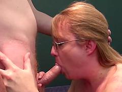 Slutty Mommy Sucks And Fucks A Big Cock
