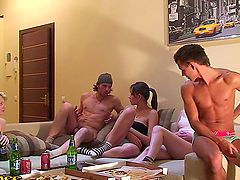crazy orgy with college chicks right..