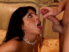 Adrianna Analese the horny brunette..
