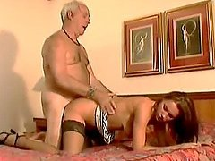 Old Man Shows An Sexy Teen What He's..