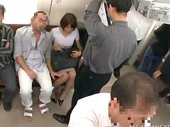 Miku Hasegawa gets fucked from behind..
