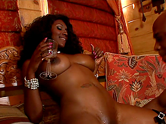A Rough Scene With The Oiled Up Nyomi..