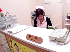Kinky ass nurse Miina Kanno gets her..