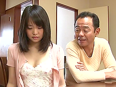 Japanese nurse in a sex clinic gives a hot show