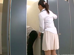 Stunning Japanese nurse gives..