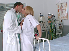 Hot & Sensual Sexy Blonde Doctor Gets..