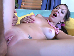 Old Man Pounds Kenna Kane's Wet Teen..