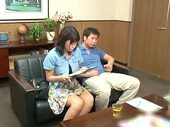 Hot milf teacher Saki Okuda gets hard doggy style here