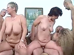 German Mature Swingers are in a wild..