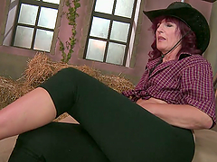 Insatiable Mature Red-Haired Cowgirl..