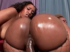 Black Cock Action For Two Thick Ebont Sluts