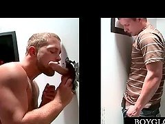 Gay stud blowing a straight penis on..
