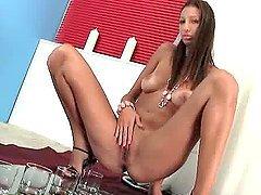Intriguing euro teen Kitty Jane pee