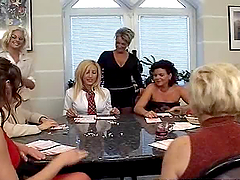 Big Crowd Of Horny Housewives Trying..