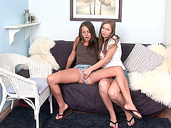 Two Kinky Teen Lesbian Chicks Getting Freaky