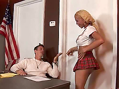 Shemale In Uniform Fucks A Guy In The..